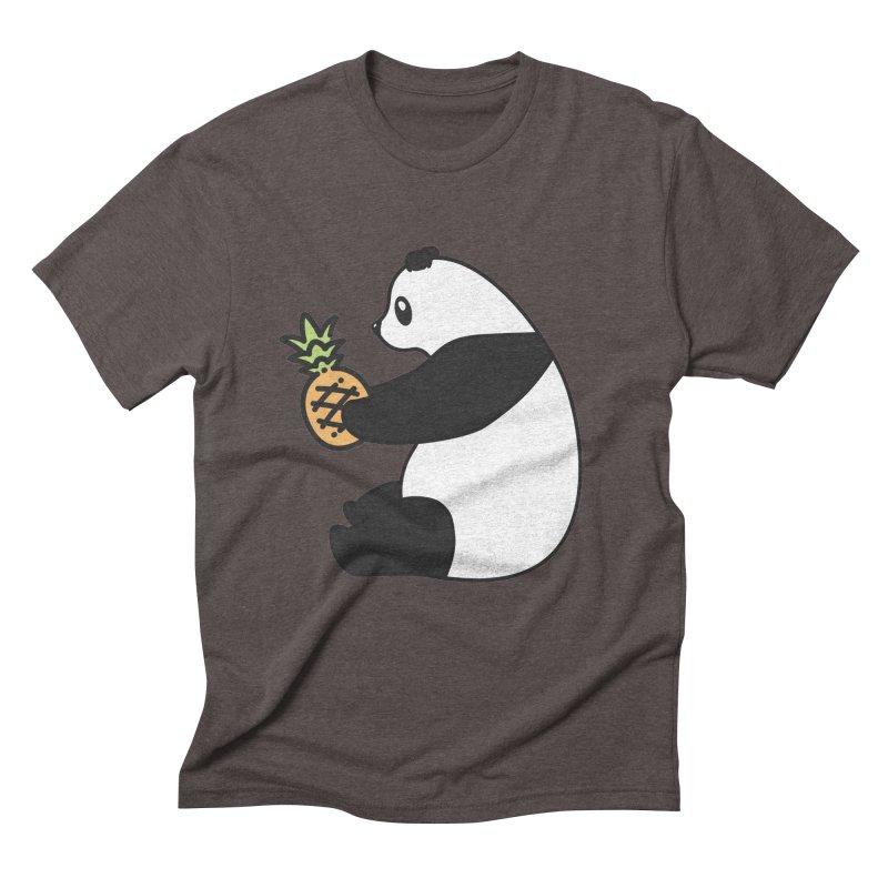 Bear Fruit - Pineapple Panda Men's Triblend T-Shirt by XXXIII Apparel