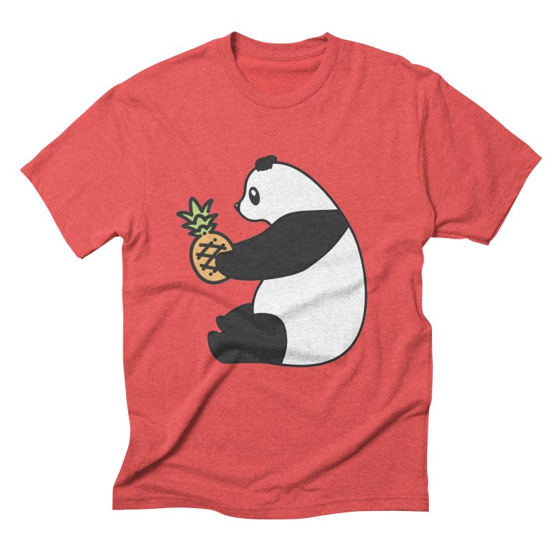 Bear Fruit - Pineapple Panda Men's Triblend T-Shirt by XXXIII Apparel