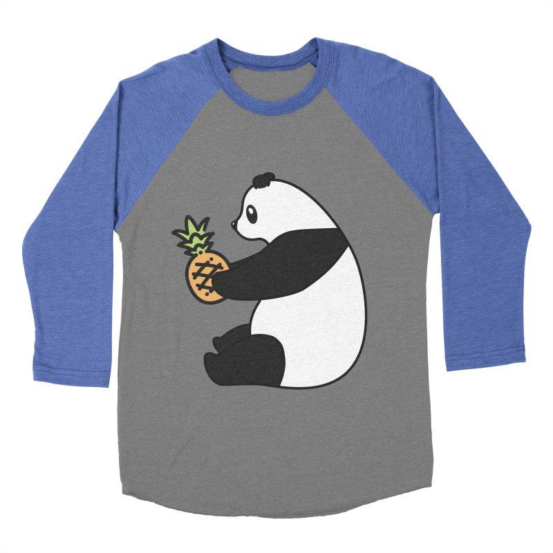 Bear Fruit - Pineapple Panda Women's Baseball Triblend Longsleeve T-Shirt by XXXIII Apparel