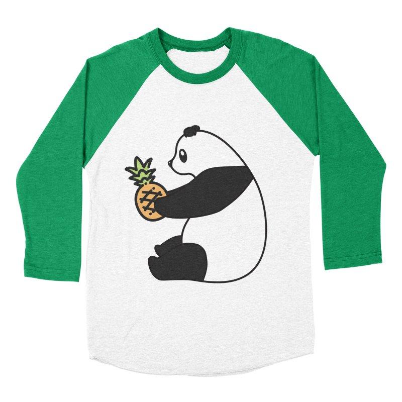 Bear Fruit - Pineapple Panda Men's Baseball Triblend Longsleeve T-Shirt by XXXIII Apparel