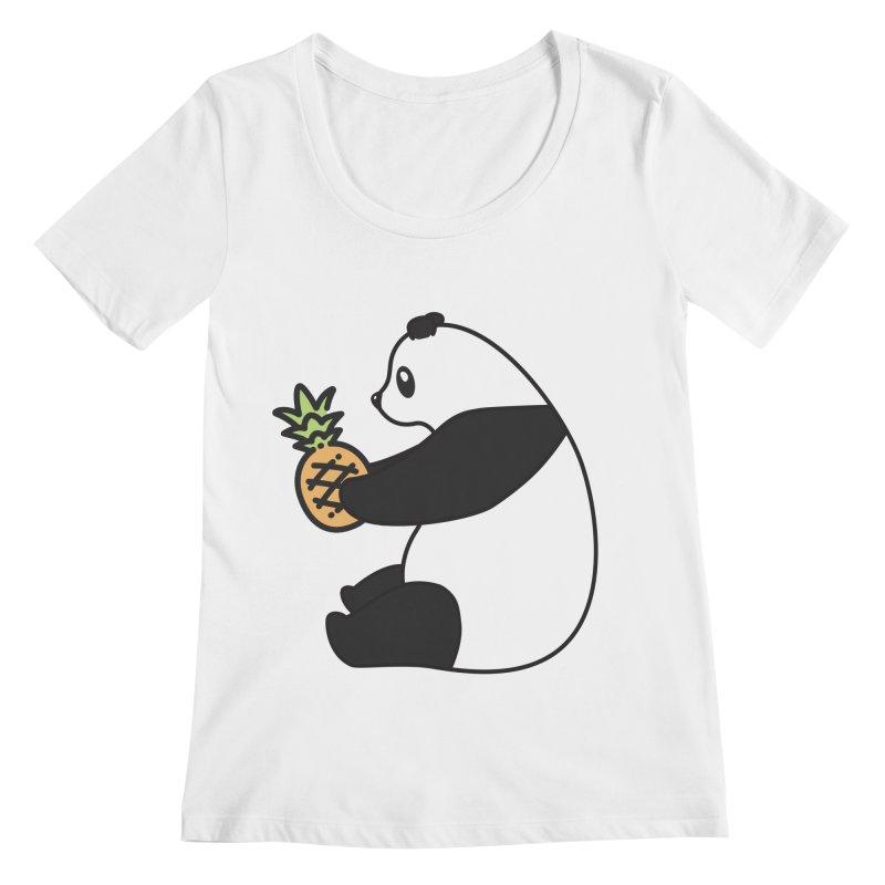 Bear Fruit - Pineapple Panda Women's Regular Scoop Neck by XXXIII Apparel
