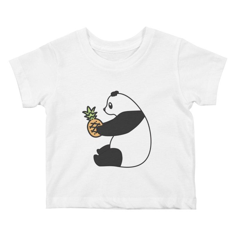 Bear Fruit - Pineapple Panda Kids Baby T-Shirt by XXXIII Apparel