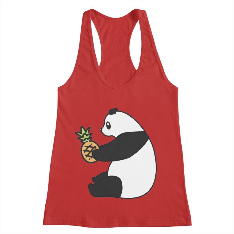 Bear Fruit - Pineapple Panda Women's Racerback Tank by XXXIII Apparel