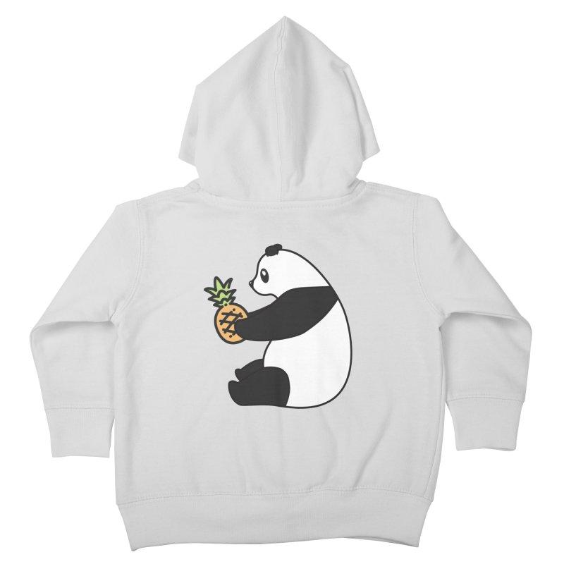 Bear Fruit - Pineapple Panda Kids Toddler Zip-Up Hoody by XXXIII Apparel