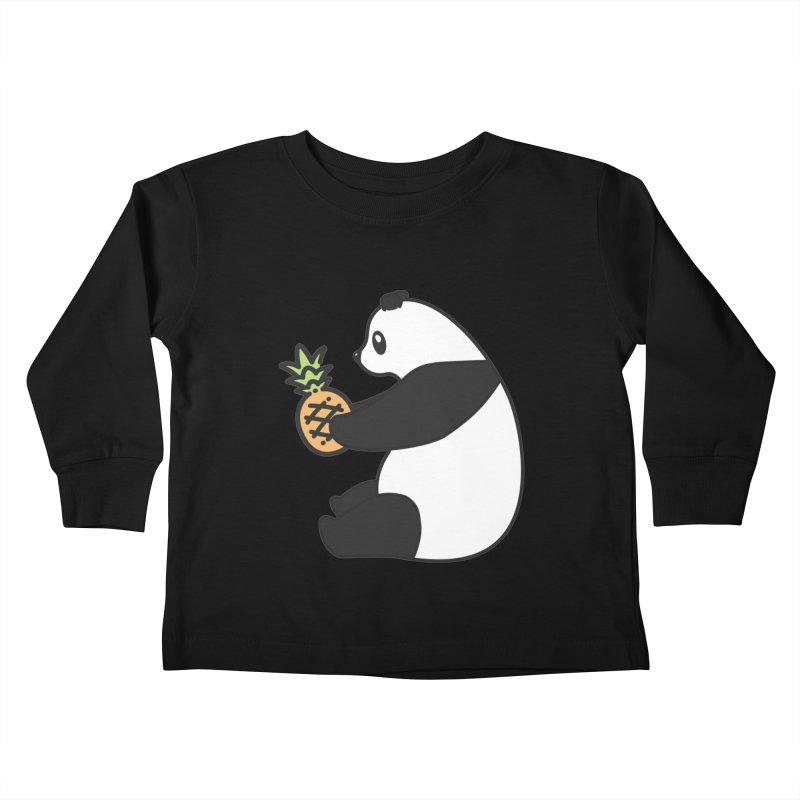 Bear Fruit - Pineapple Panda Kids Toddler Longsleeve T-Shirt by XXXIII Apparel