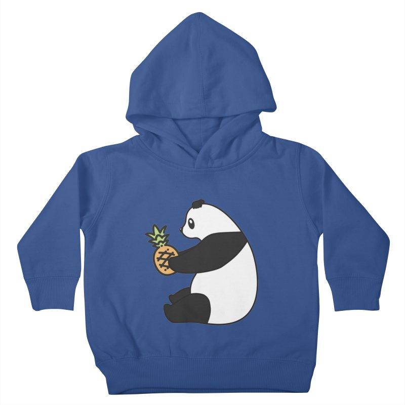 Bear Fruit - Pineapple Panda Kids Toddler Pullover Hoody by XXXIII Apparel