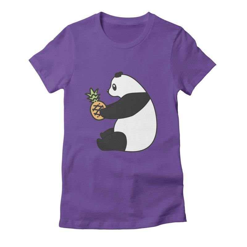 Bear Fruit - Pineapple Panda Women's Fitted T-Shirt by XXXIII Apparel