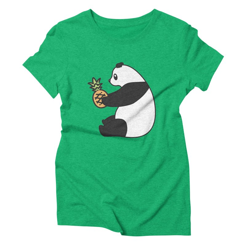 Bear Fruit - Pineapple Panda Women's Triblend T-Shirt by XXXIII Apparel