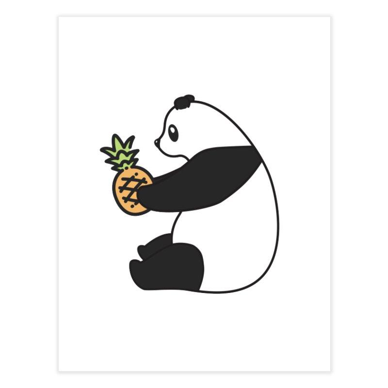Bear Fruit - Pineapple Panda Home Fine Art Print by XXXIII Apparel