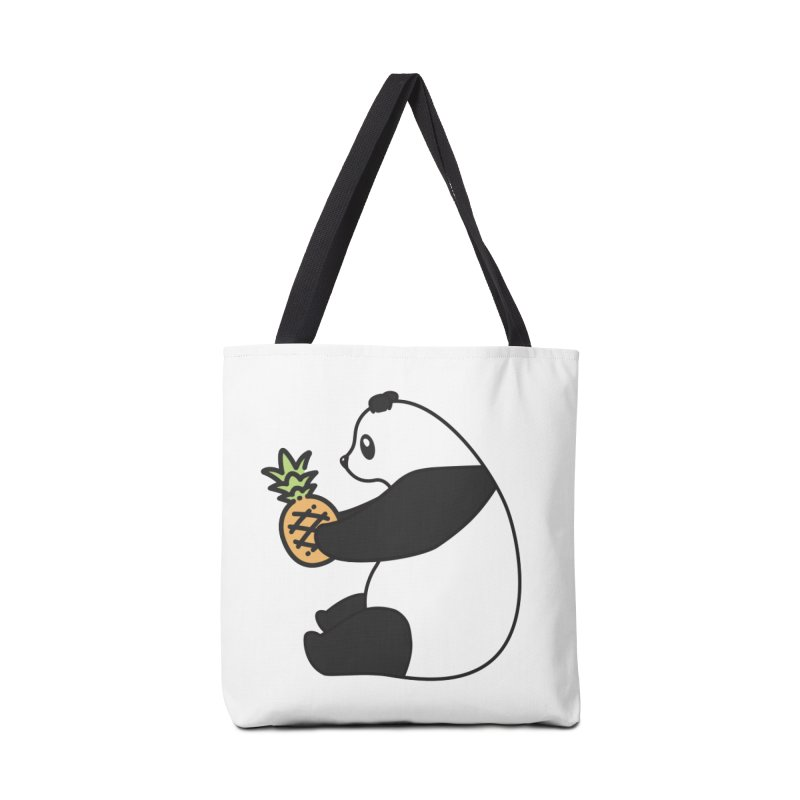 Bear Fruit - Pineapple Panda Accessories Tote Bag Bag by XXXIII Apparel