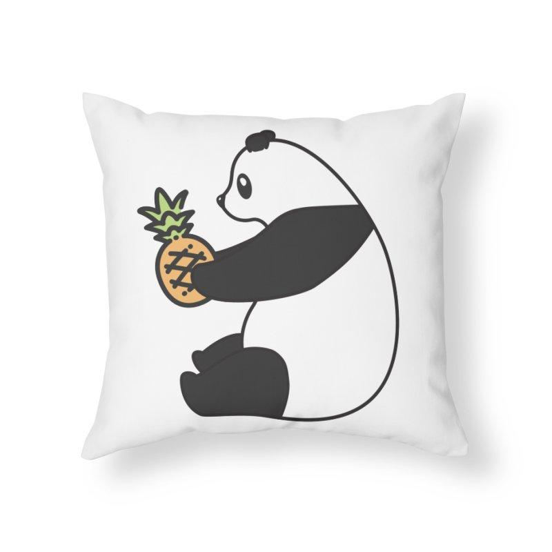 Bear Fruit - Pineapple Panda Home Throw Pillow by XXXIII Apparel