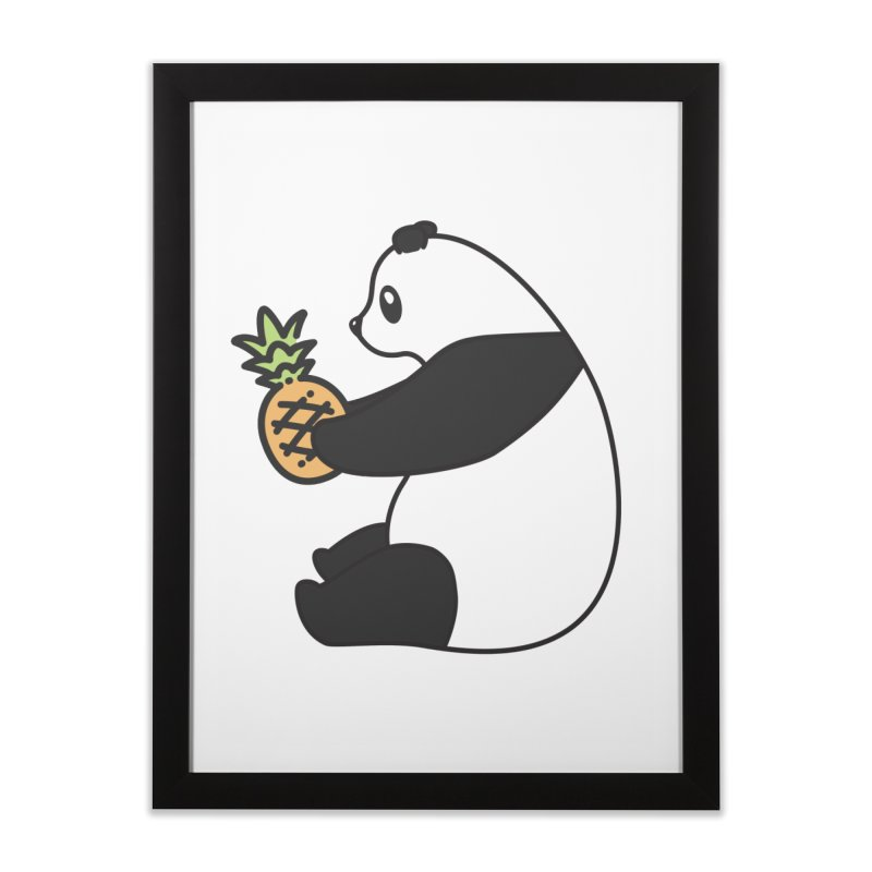 Bear Fruit - Pineapple Panda Home Framed Fine Art Print by XXXIII Apparel