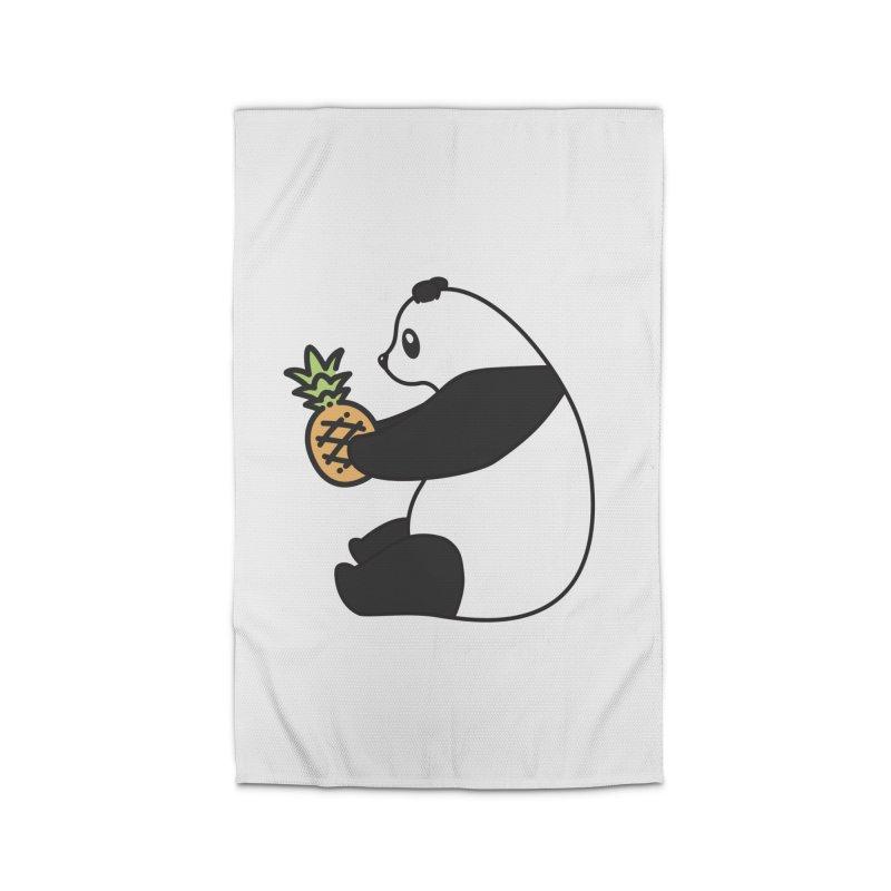 Bear Fruit - Pineapple Panda Home Rug by XXXIII Apparel