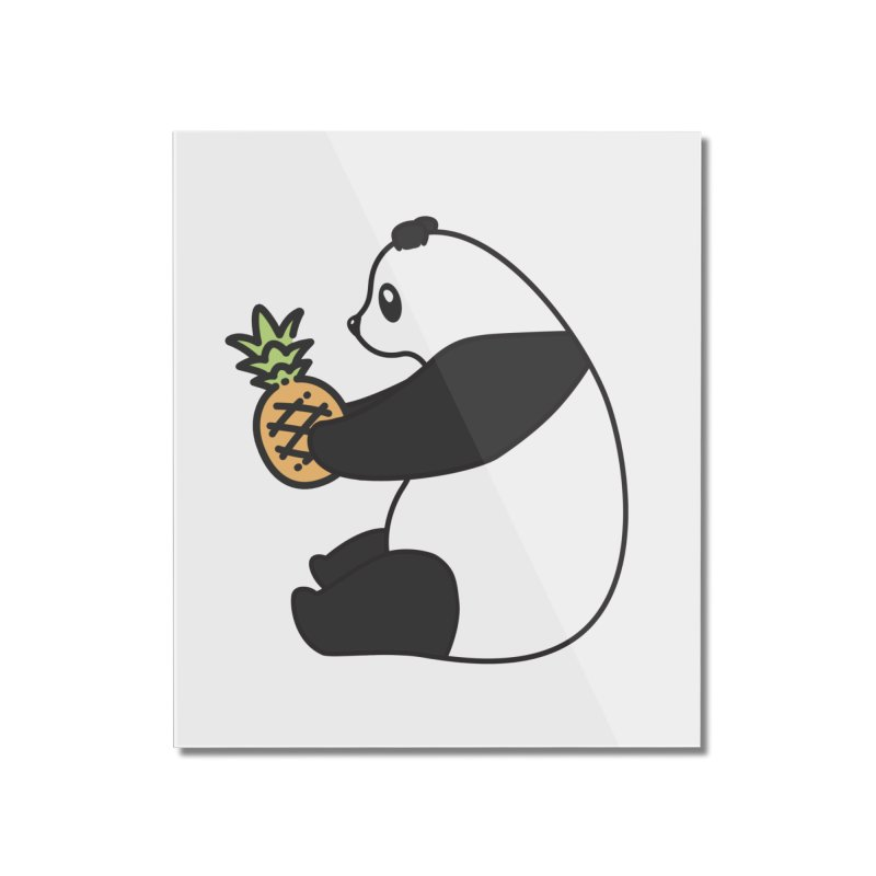 Bear Fruit - Pineapple Panda Home Mounted Acrylic Print by XXXIII Apparel