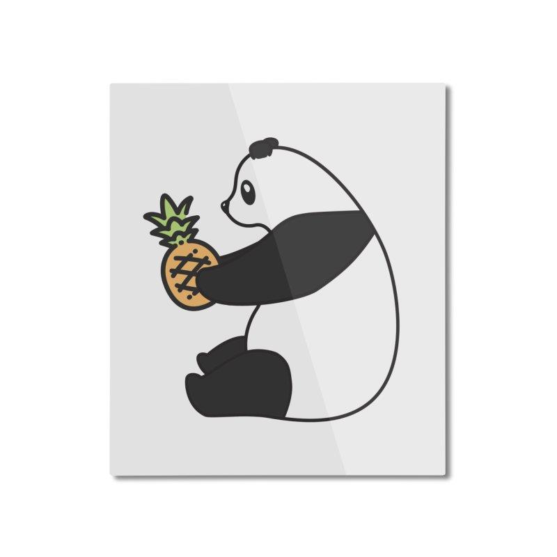 Bear Fruit - Pineapple Panda Home Mounted Aluminum Print by XXXIII Apparel