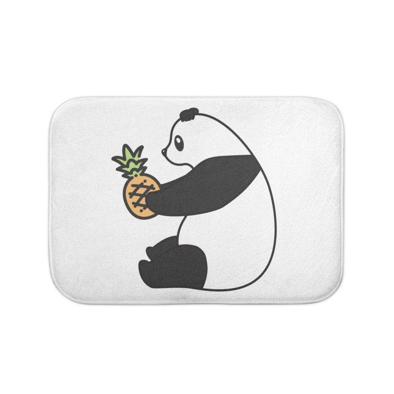 Bear Fruit - Pineapple Panda Home Bath Mat by XXXIII Apparel