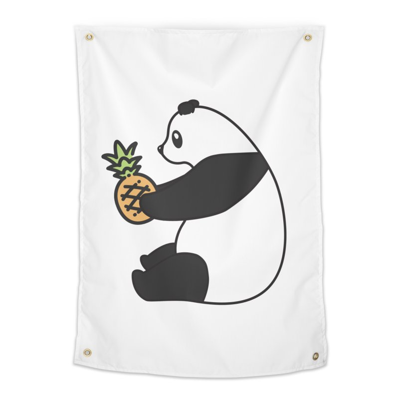 Bear Fruit - Pineapple Panda Home Tapestry by XXXIII Apparel
