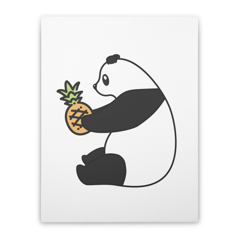 Bear Fruit - Pineapple Panda Home Stretched Canvas by XXXIII Apparel