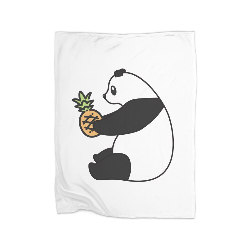 Bear Fruit - Pineapple Panda Home Fleece Blanket Blanket by XXXIII Apparel