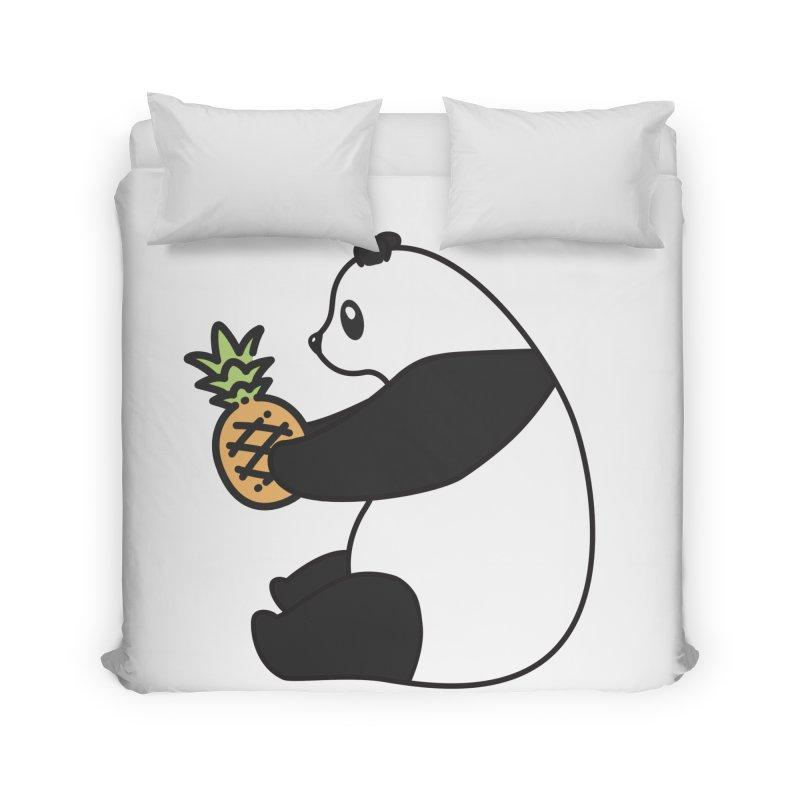 Bear Fruit - Pineapple Panda Home Duvet by XXXIII Apparel