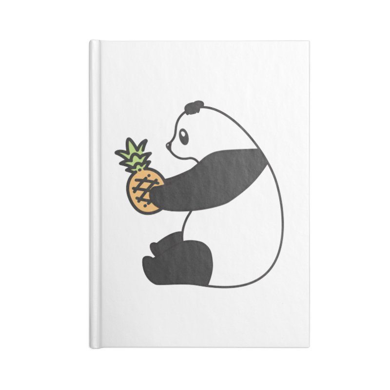 Bear Fruit - Pineapple Panda Accessories Lined Journal Notebook by XXXIII Apparel