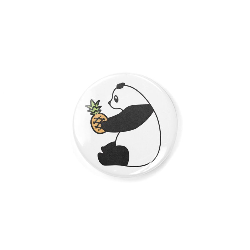 Bear Fruit - Pineapple Panda Accessories Button by XXXIII Apparel