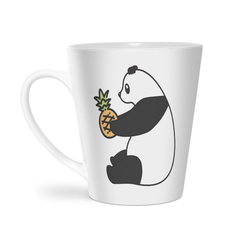 Bear Fruit - Pineapple Panda Accessories Latte Mug by XXXIII Apparel
