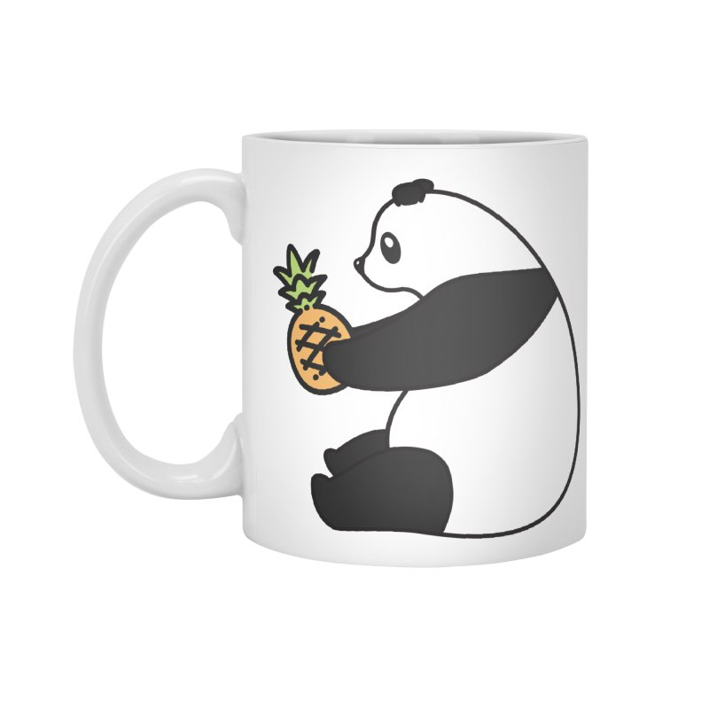 Bear Fruit - Pineapple Panda in Standard Mug White by XXXIII Apparel