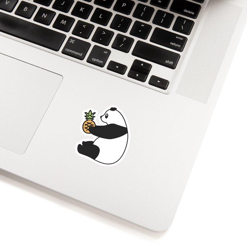Bear Fruit - Pineapple Panda Accessories Sticker by XXXIII Apparel