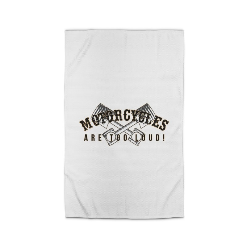 Motorcycles are too loud! Home Rug by XXXIII Apparel