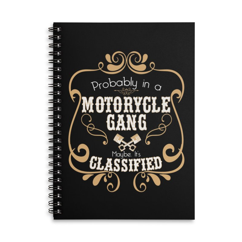 Motorcycle Gang Accessories Lined Spiral Notebook by XXXIII Apparel