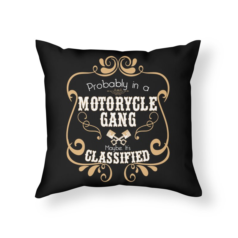 Motorcycle Gang Home Throw Pillow by XXXIII Apparel