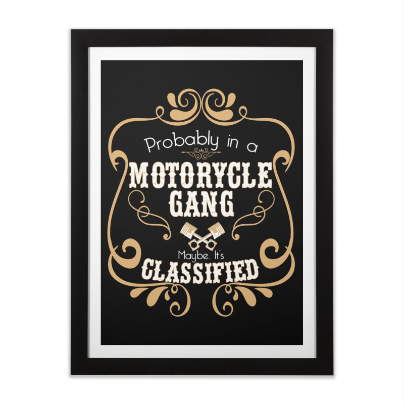 Motorcycle Gang Home Framed Fine Art Print by XXXIII Apparel