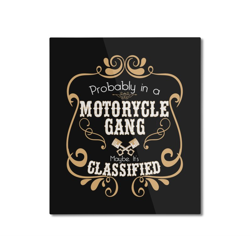 Motorcycle Gang Home Mounted Aluminum Print by XXXIII Apparel