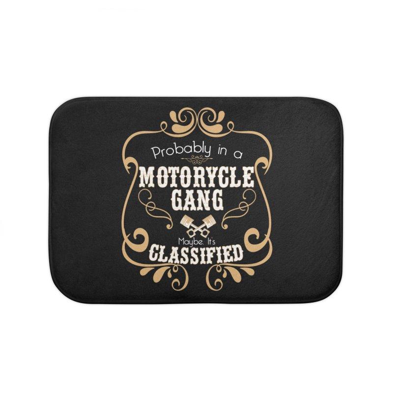 Motorcycle Gang Home Bath Mat by XXXIII Apparel