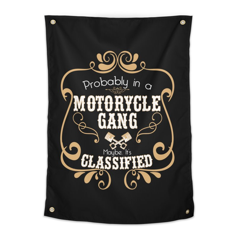 Motorcycle Gang Home Tapestry by XXXIII Apparel