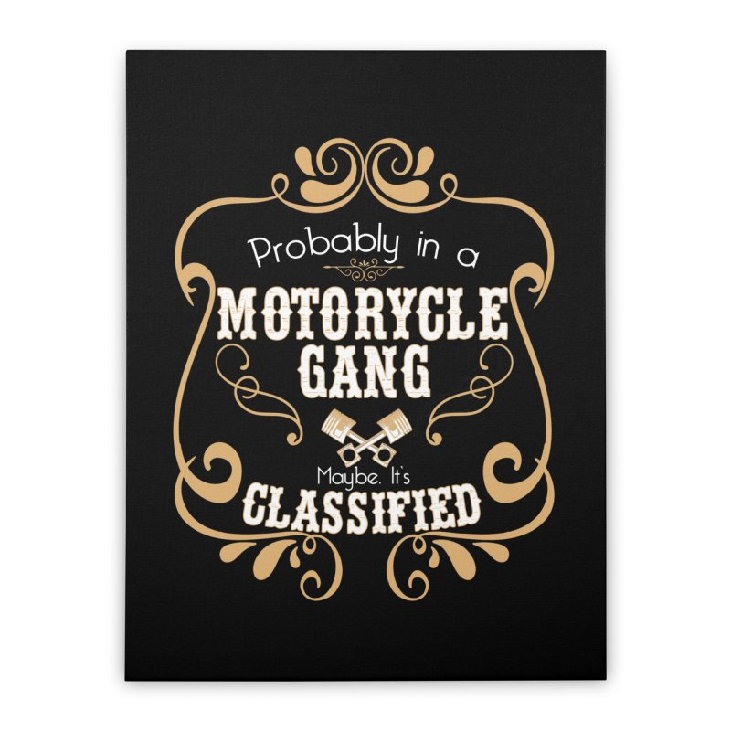 Motorcycle Gang Home Stretched Canvas by XXXIII Apparel