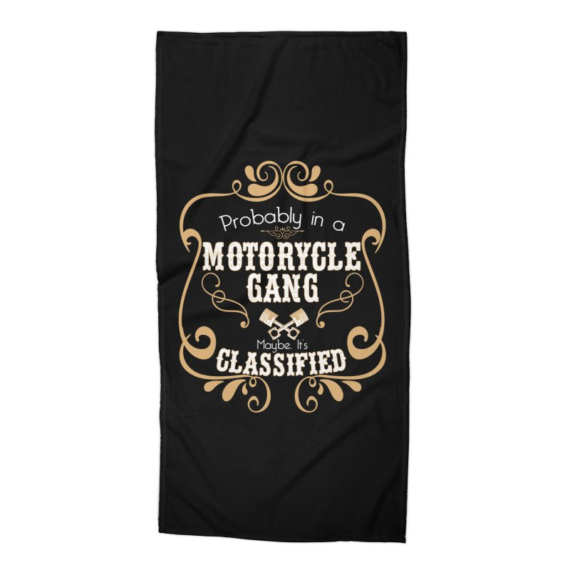 Motorcycle Gang Accessories Beach Towel by XXXIII Apparel