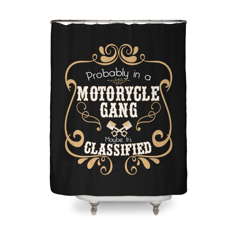 Motorcycle Gang Home Shower Curtain by XXXIII Apparel