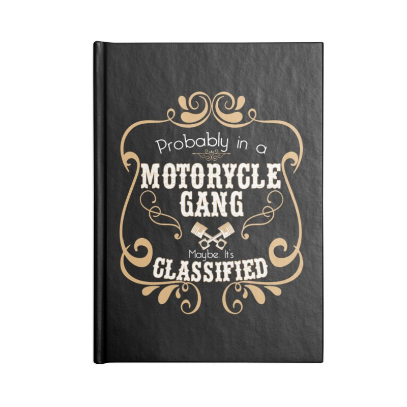 Motorcycle Gang Accessories Blank Journal Notebook by XXXIII Apparel