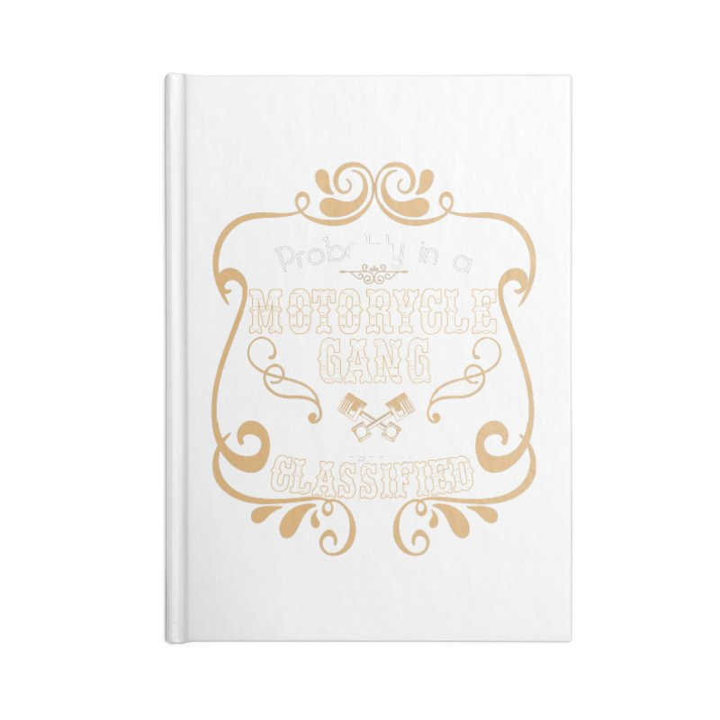 Motorcycle Gang Accessories Lined Journal Notebook by XXXIII Apparel