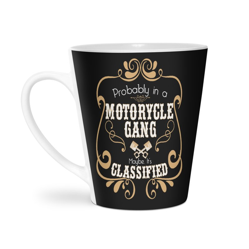 Motorcycle Gang Accessories Latte Mug by XXXIII Apparel