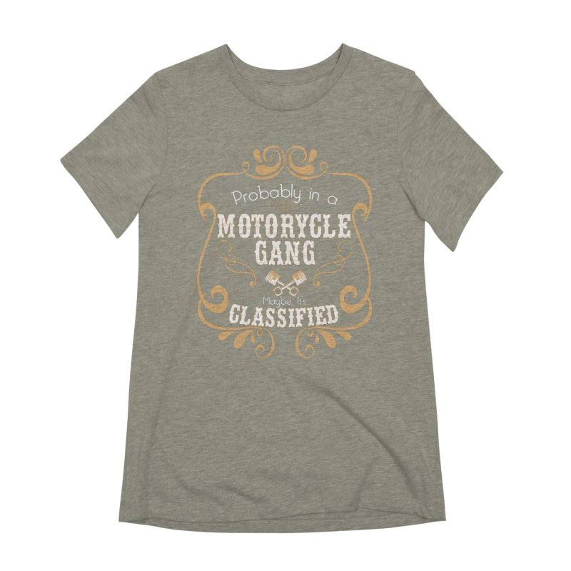 Motorcycle Gang Women's Extra Soft T-Shirt by XXXIII Apparel