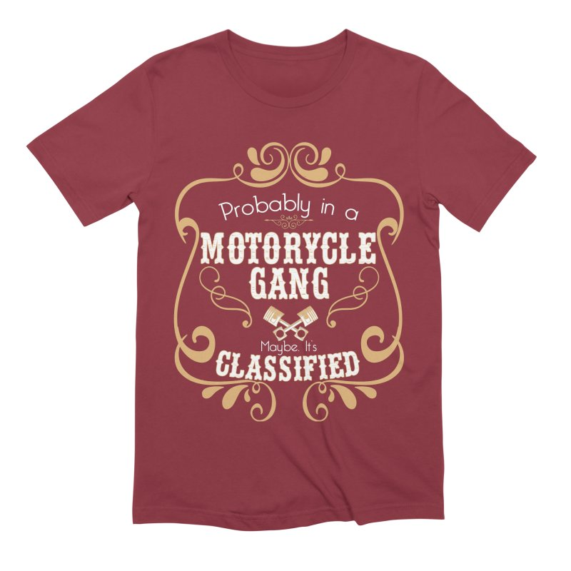 Motorcycle Gang Men's Extra Soft T-Shirt by XXXIII Apparel