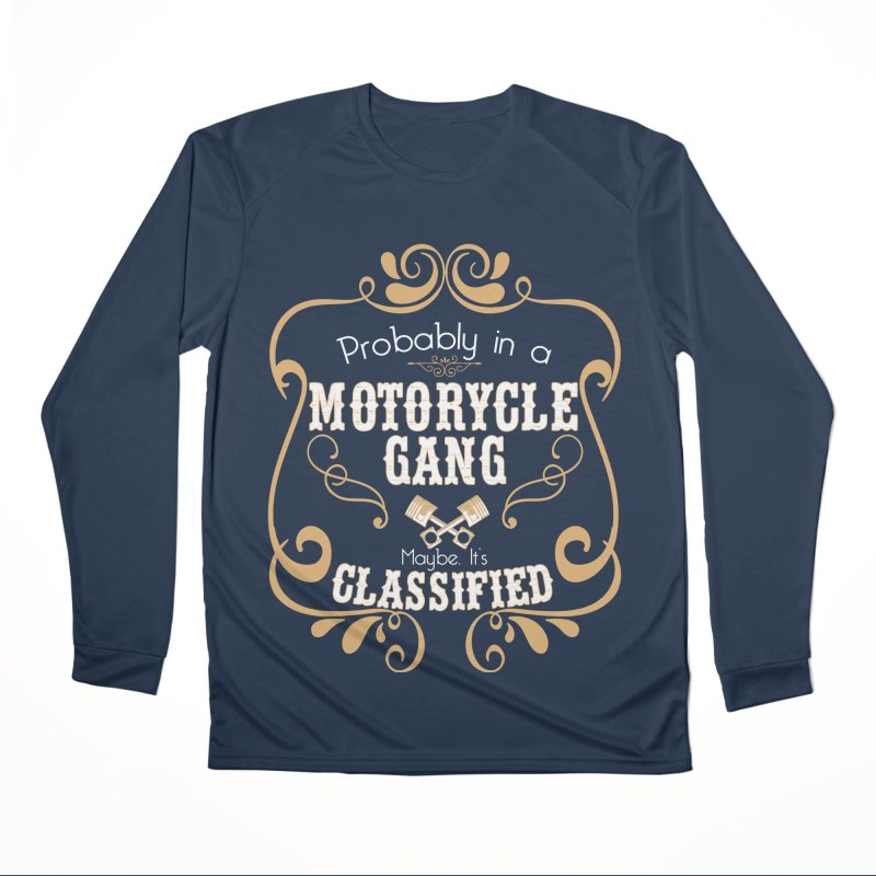 Motorcycle Gang Men's Performance Longsleeve T-Shirt by XXXIII Apparel