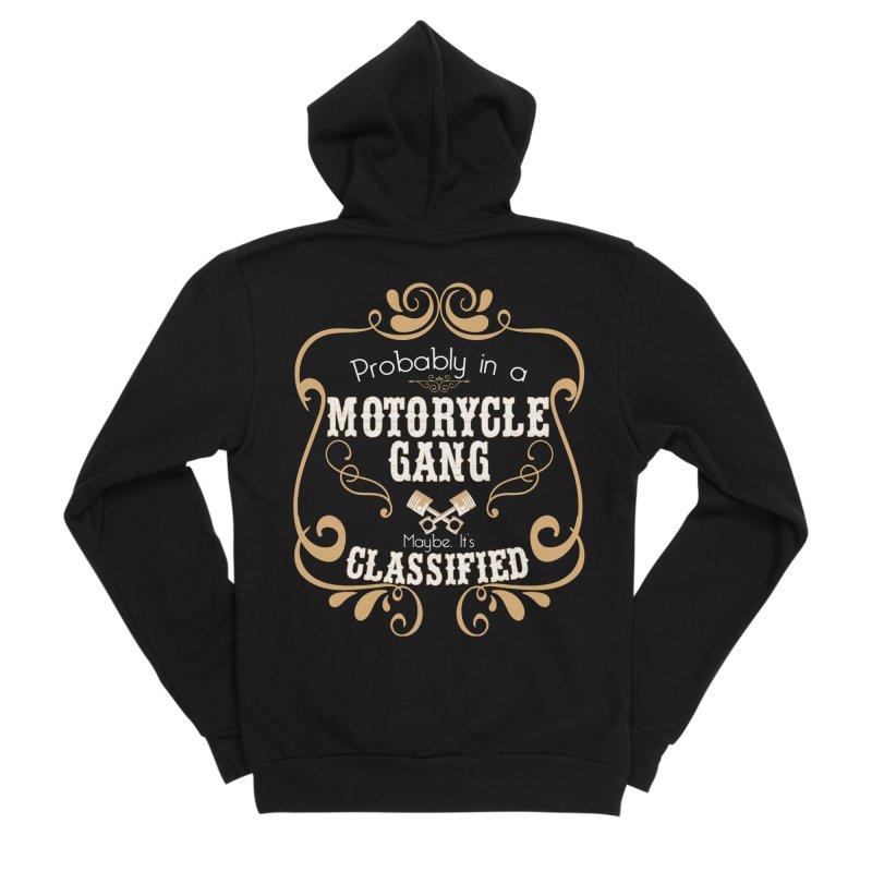 Motorcycle Gang Men's Sponge Fleece Zip-Up Hoody by XXXIII Apparel