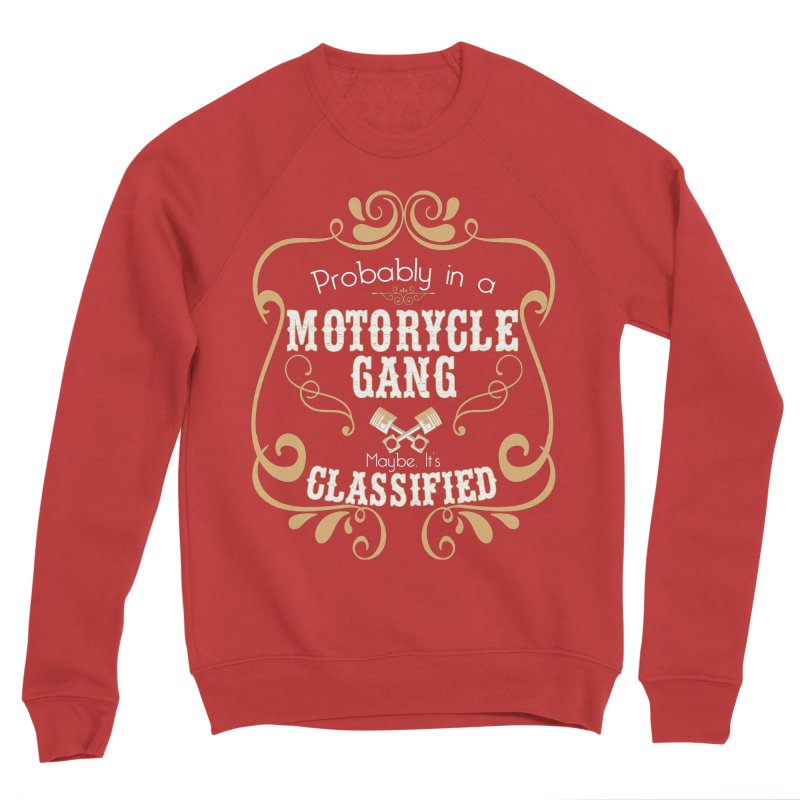 Motorcycle Gang Women's Sponge Fleece Sweatshirt by XXXIII Apparel