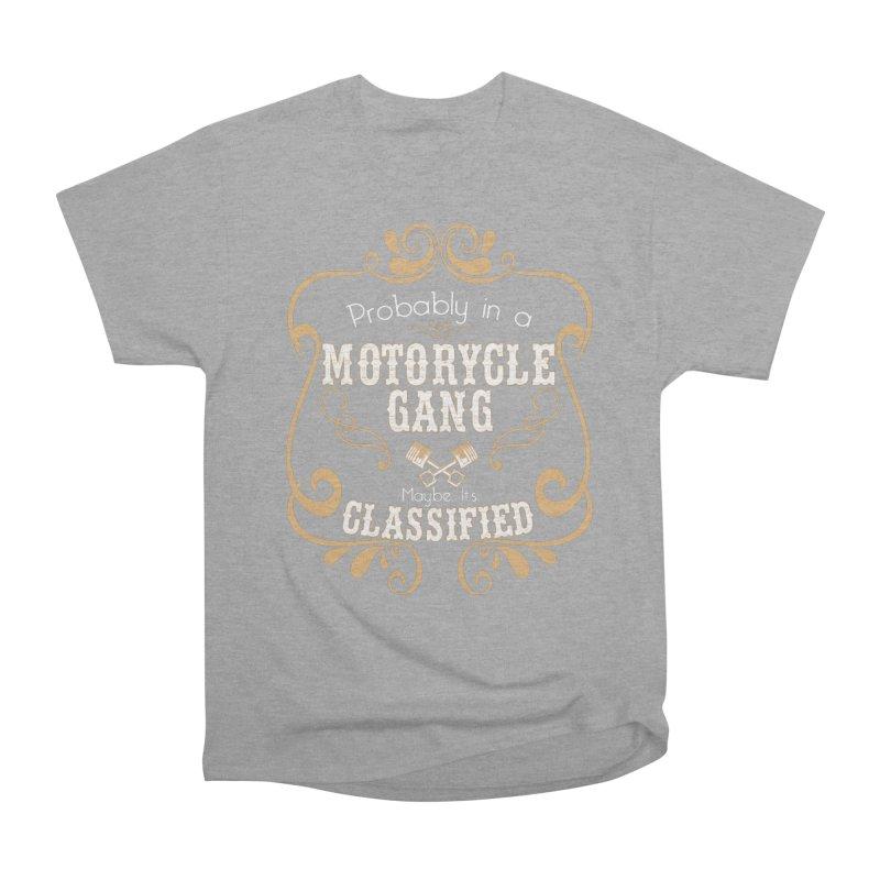 Motorcycle Gang Women's Heavyweight Unisex T-Shirt by XXXIII Apparel
