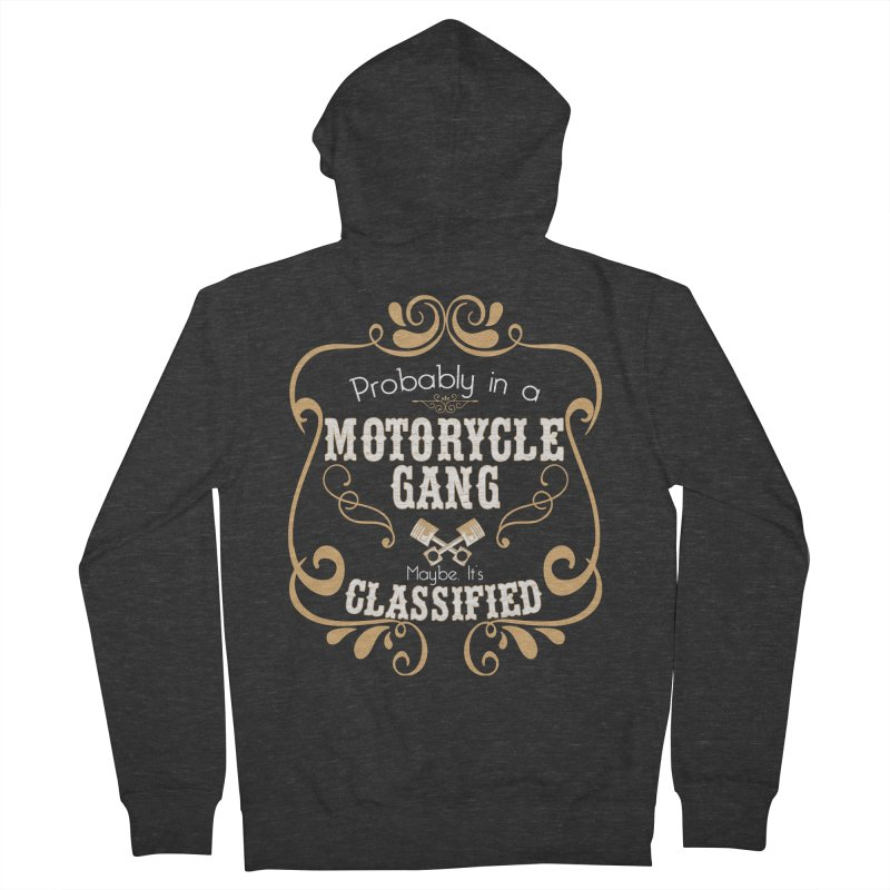 Motorcycle Gang Women's French Terry Zip-Up Hoody by XXXIII Apparel