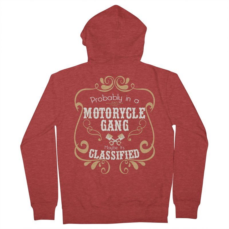 Motorcycle Gang Men's French Terry Zip-Up Hoody by XXXIII Apparel